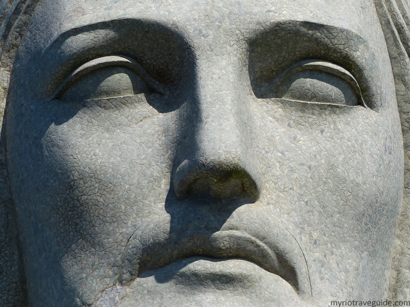 Close-up of Christ the Redeemer statue's face - My Rio ...