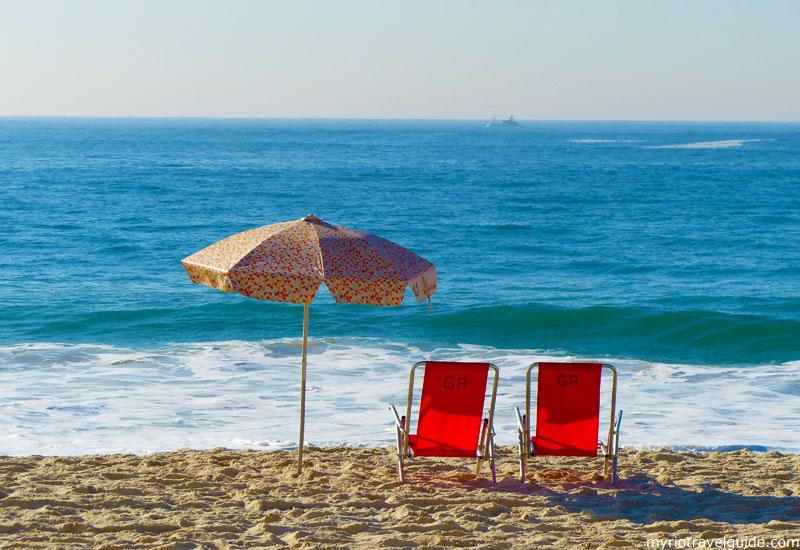 Beach Lounge Chair On Copacabana Rio De Janeiro